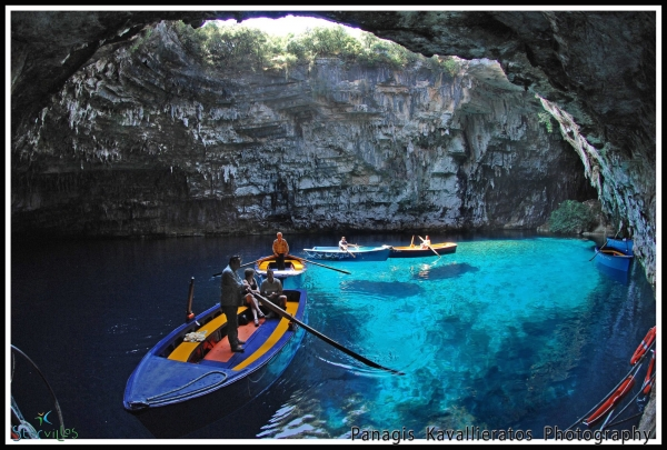 Melissani's cave